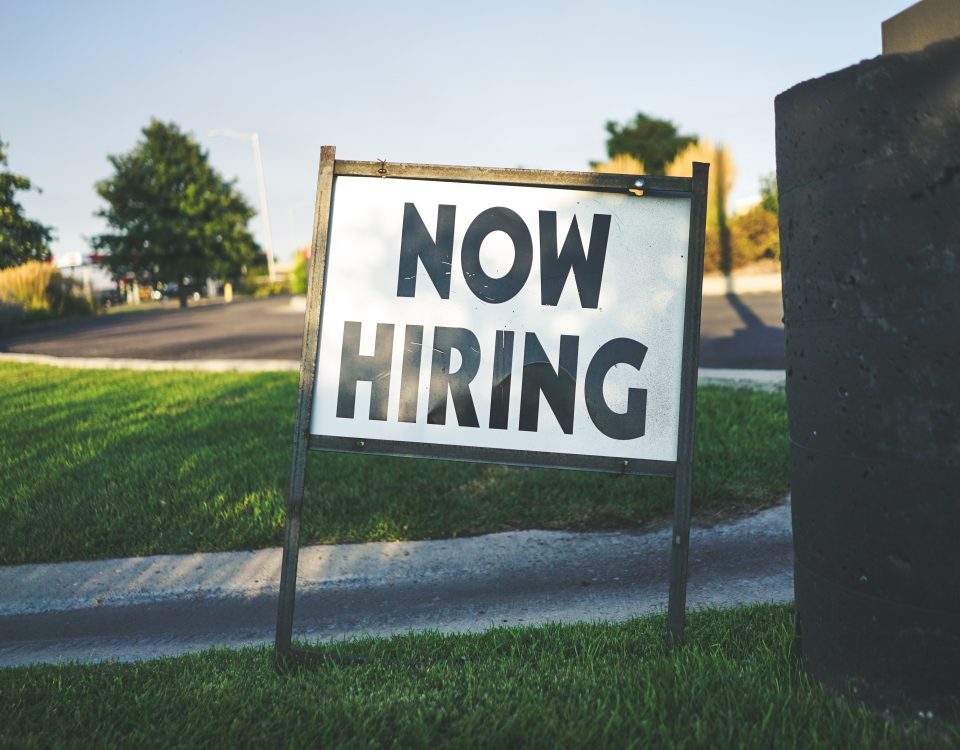 now hiring supply chain sign