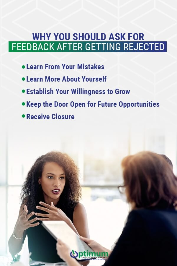 5 reasons you should ask for feedback after getting rejected