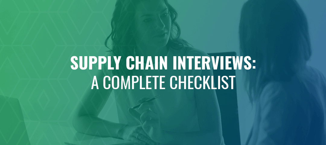 checklist for supply chain interview
