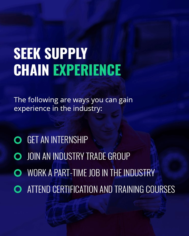 ways you can gain experience in the supply chain industry